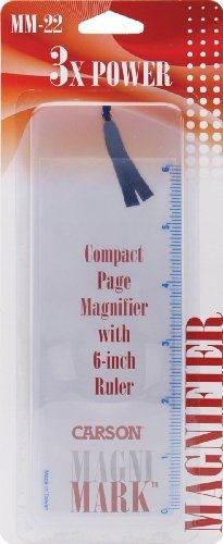 Carson MagniMark Fresnel 3x Power Page Magnifier with 6-Inch Ruler (MM-22)]()
