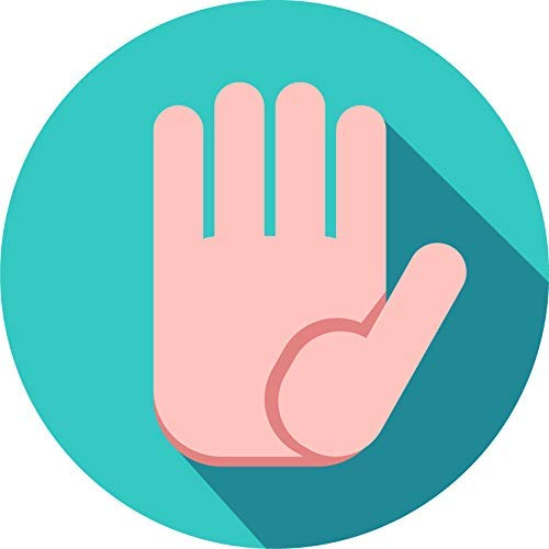 BW MAG Magnet Simple Hand Gesture Cartoon Emoji Icon Vinyl Magnet (2