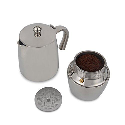 XIHAO Stainless Steel Stovetop Espresso Coffee Maker Moka Pot - Coffee Pigs