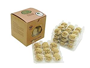 Best Tea Cookies - Earl Grey Green Pea Cookies -- perfect with tea, 100% handmade with roasted green peas and infused with earl grey tea -- 36 count kraft box with biodegradable packaging