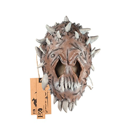 Scary Halloween Mask Latex Devil Monster Cosplay Mask Masquerade Party Favors (Alien4)