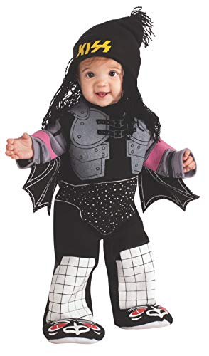 Kiss The Demon Ez-On Romper Costume, Black, Newborn -
