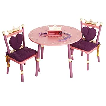 Princess Table \u0026 2 Chair Set  sc 1 st  Amazon.com & Amazon.com: Princess Table \u0026 2 Chair Set: Baby