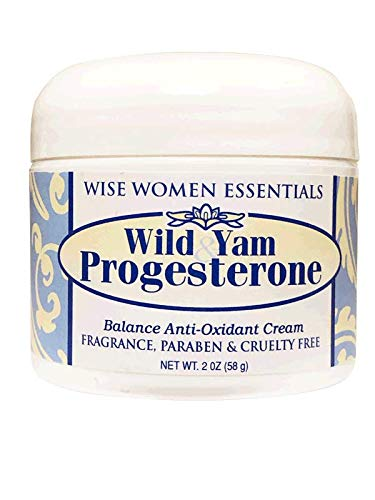 Wise Essentials Wild Yam & Progesterone Cream Bio Identical with Chaste Tree Berry May Support Menopause NON GMO Paraben - 2 Jason Ounce Natural