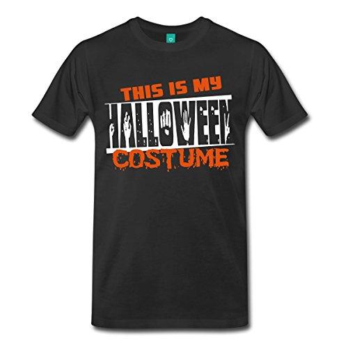 Hallowe En Costumes - This Is My Halloween Costume Men's Premium T-Shirt by Spreadshirt, 4X, black