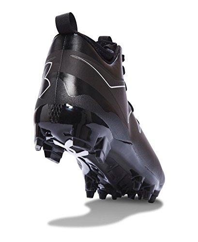 Under Armour Nitro Mid MC Mens Football Cleats Black/white vCAnnwf8