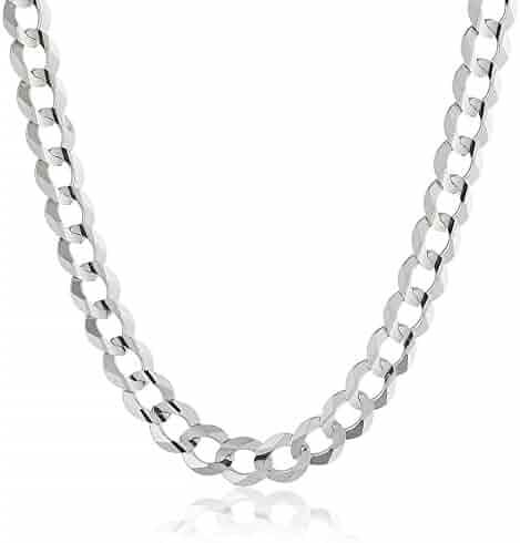 Men's 14k Gold 7mm Cuban Chain Necklace