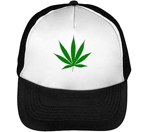 Hombre Blanco Negro Green Snapback Graphic Gorras Cannabis Weed Beisbol gaBOHH
