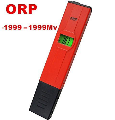ORP Meter, Digital ORP Tester Meter,ORP Redox Meter Pen -1999mV~1999mV Millivolts Backlight LCD Aquarium Pool
