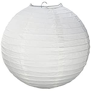 "Electronix Express 12"" White Paper Lantern Lamp Shades 12 Pack"