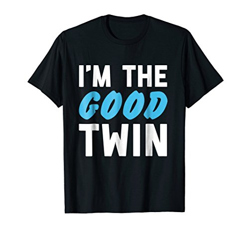 Im The Good Twin | Funny Couples Halloween Costume ()