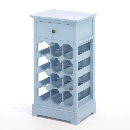 Home Locomotion Somerset Blue Wine Cabinet Home Locomotion