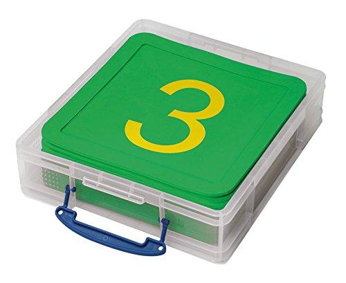 Zahlenmatten, 21 Stück, bedruckte Zahlenmatten von 1-20, Mathematik, Lehrmittel, Rechnen lernen Grundschule, Rechenspiele, mit rutschfester Oberfläche