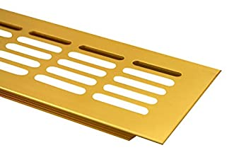 F3 Rejillas Ventilaci/ón Placa del puente ventilaci/ón de aluminio 80mm x 300mm en diferentes colores Oro anodizado