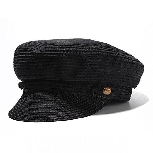 Sun Hats for Women, Cotton Yarn Newsboy Fashion Caps Ladies Beret Octagonal Cap - Cotton Straw Cap
