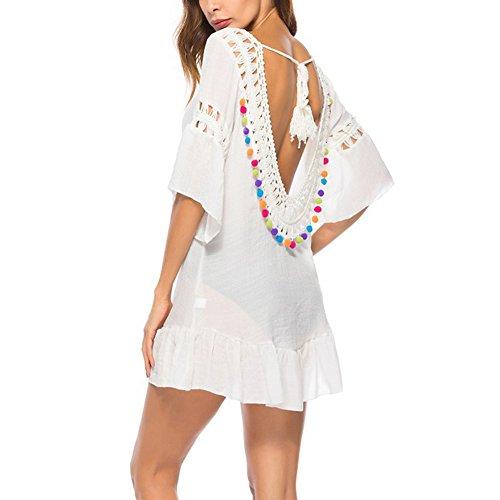 In Bianco Sexy Scollo A Cotone Seluxu 5 Da Bagno Pizzo Costume Copricostume V Sui Donna Con Copribikini ZxvwwRn5q