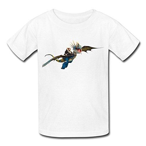 GYKU Kid's How To Train Your Dragon T-Shirt White US Size M,100% Cotton
