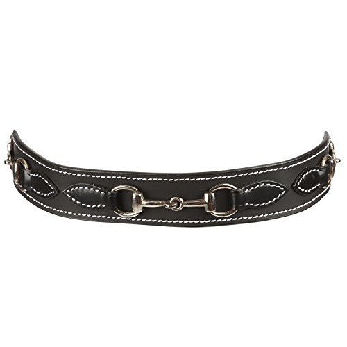 Huntley Equestrian Daisy Clipper Children's Leather Snaffle Bit Belt