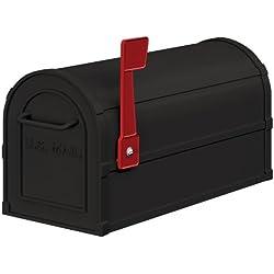 Salsbury Industries 4850BLK Heavy Duty Rural Mailbox, Black