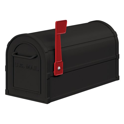 Salsbury Industries 4850BLK Heavy Duty Rural Mailbox, Black