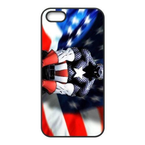 Captain America 001 coque iPhone 4 4S cellulaire cas coque de téléphone cas téléphone cellulaire noir couvercle EEEXLKNBC24009