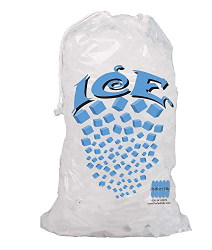 Perfect Stix Icebag10DS-50 Ice Bag with Draw String Enclosure, 10 Lbs (50/Pk) (Pack of 50) ()