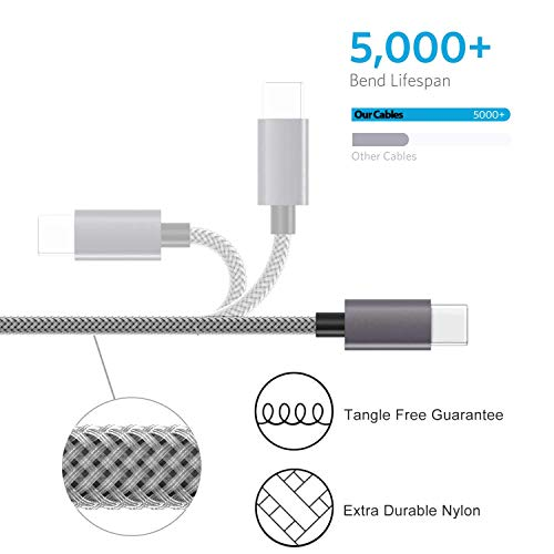 iPhone Charger,MFi Certified Lightning Cable [4 Pack 6FT] Extra Long Nylon Braided USB Charging & Syncing Cord Compatible iPhone Xs/Xs Max/XR/X/8/8 Plus/7/7 Plus/6S/6S Plus/SE/iPad/iPod ZXVC7