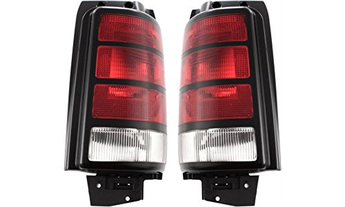 1992 92 Dodge Grand Caravan (Evan-Fischer EVA15672055597 Tail Light for Dodge Caravan 91-95 Set of 2 RH and LH Lens and Housing Left Right Replaces Partslink# CH2800127, CH2801127)