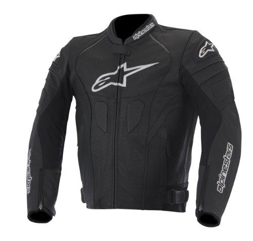 Alpinestars GP Plus R Perforated Leather Men's Riding Jacket (Black/White, Size 58)