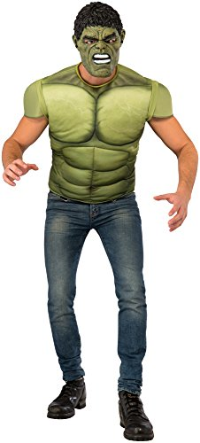 Rubie's Men's Avengers 2 Age of Ultron Hulk Muscle Chest and Mask, (Hulk Costume For Adults)