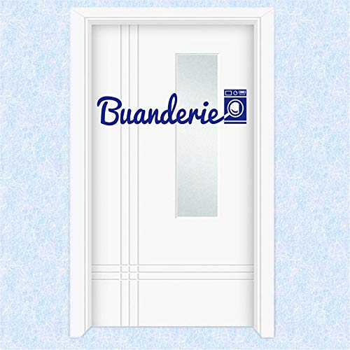 Decor Stickers Walls Art Words Sayings Removable Lettering French Stickers for Buanderie Home -