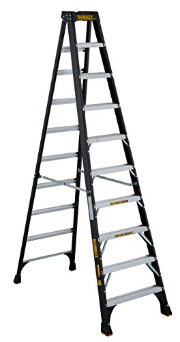DeWalt DXL3010-10 Fiberglass Stepladder, 10-Feet, Black