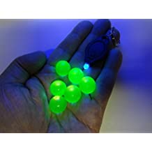 Uranium Marbles 5/8TH Size 6 Pack With Free Black Light Key Chain