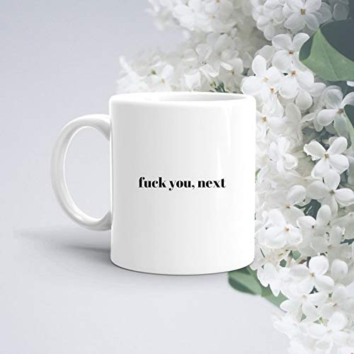 Ugtell 11oz Funny Coffee Mug Fuck you Next Ariana Grande Mug Funny Mug Adult Mug Gifts for Ex Boyfriend Ex Girlfriend Best Selling Mugs Fuck Mug Simple Mug TeaCup