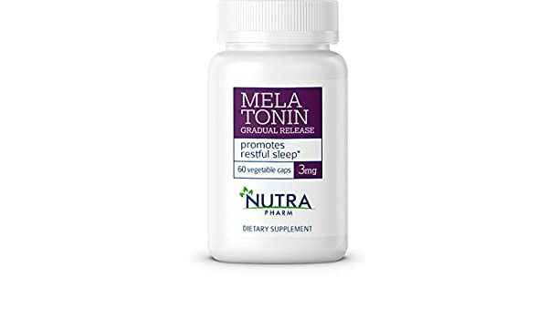 Amazon.com: Melatonin 3mg 60 Vegetable Caps by Nutra Pharm , Guarantees Deep Sleep, Relief from Sleeplessness, Stress, Nervousness - Boosts Mood & Feelings ...