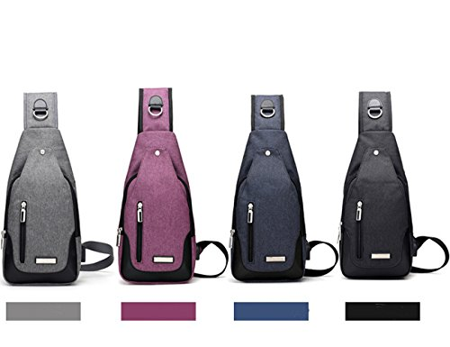 Doxungo dark Travel Sport Climbing Crossbody Hiking Unisex Bag Shoulder Cycling Pack Backpack Rucksack Outdoor Running Purple Blue Sling For Chest And TTwgqU