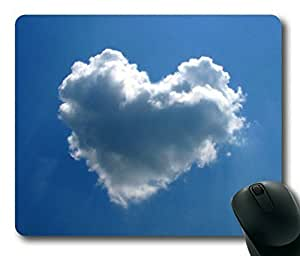 Awesome Heart Shaped Cloud Rectangle Mouse Pad by Sakuraelieechyan by runtopwell