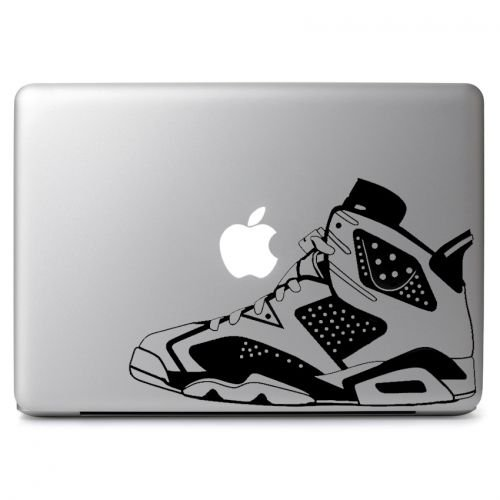 Air Jordan No. 6 Retro Shoes Decal Sticker Skin, Die cut vinyl decal for windows, cars, trucks, tool boxes, laptops, MacBook - virtually any hard, smooth surface