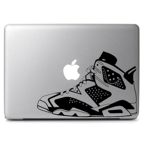 Air Jordan No. 6 Retro Shoes Decal Sticker Skin, Die cut vinyl decal for windows, cars, trucks, tool boxes, laptops, MacBook - virtually any hard, smooth surface (Trademark Box No)