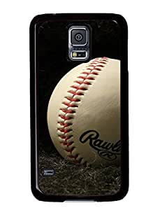 Baseball on Dark Cloth DIY Hard Shell Black Samsung Galaxy S5 I9600 Case Perfect By Custom Service
