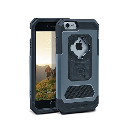Rokform iPhone 8 & 7 Fuzion Pro Series Aluminum & Carbon Fiber Rugged Magnetic Phone case with twist lock & universal magnetic car mount (Gun - Is Gunmetal What Colour