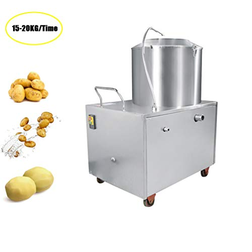 Enshey Capacity Commercial Electric Potato Peeler 33lb-44lb Heavy Duty Automatic Sweet Potato Peeling &Cleaning Machine 1500W Electric Potato Peeler, Ship from USA, 2-4 Days Delivery