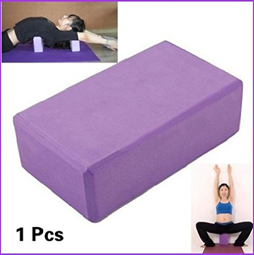 Enking Yoga Block Brick Foaming Block Home Exercise Pilates Tool Stretching Aid Purple