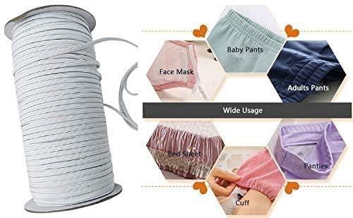 Twotwowin Cinta de goma plana para coser, 3 mm / 5 mm de ancho ...