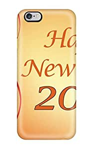 iphone 5 5s Case Slim [ultra Fit] Happy New Year Greeting Protective Case Cover(3D PC Soft Case)