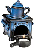 Brûle-Parfum, Typ Poêle de Faïence, 14 cm, Lampe à Parfum