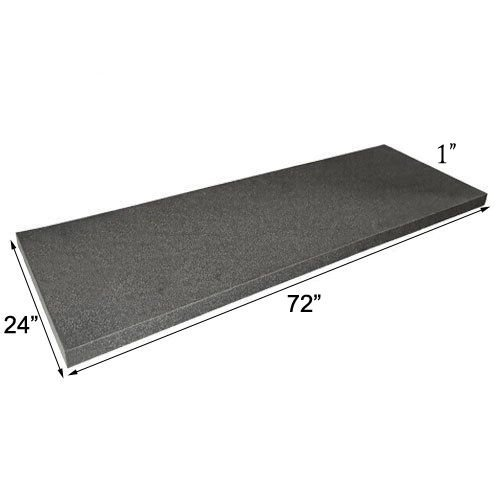 (IZO All Supply Acoustic Foam Flat Panel Studio Soundproofing Foam Wall Panel 1 x 24 x 72 Polyurethane Charcoal Foam Padding Packing Foam )