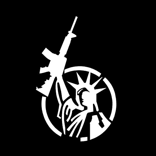 Statue Of Liberty AR-15 Freedom V1 Vinyl Decal by stickerdad - size: 7