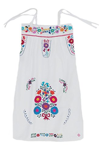 Mexican Clothing Co Girls Mexican Dress Traditional Strap-Strapless Sundress M CT XL(16) Multicoloured (Strapless Embroidered Dress)