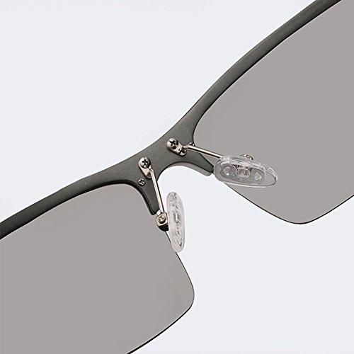 Meetyou Soleil Hommes Cadre Pêche Demi Polarisé De Gray Lunettes Lunettes Gray Magnésium De Sport Aluminium zAtUzqrw